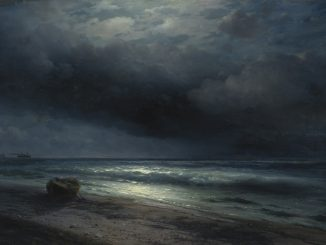 Ivan Aivazovskyn maalaus a Moonlit Night at Sea