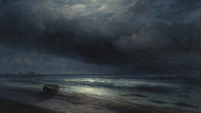 Ivan Aivazovskyn maalaus a Moonlit Night at Sea