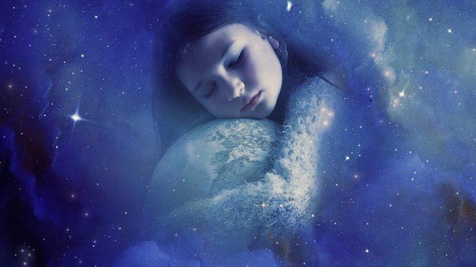 Kuvituskuva unelmoivasta lapsesta