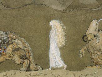 Kuvituskuvana ote John Bauerin maalauksesta Prinsessan och trollen